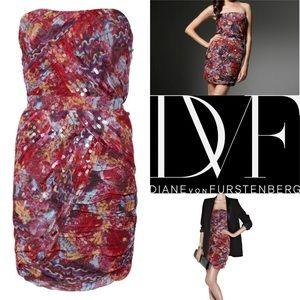 Diane Von Furstenburg Garvin Silk Minidress